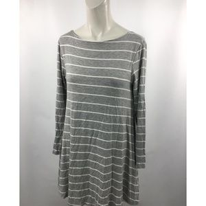 Q Altard State Striped Lined Thermal Tunic Top